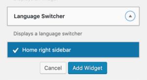 Language Switcher(Widget)